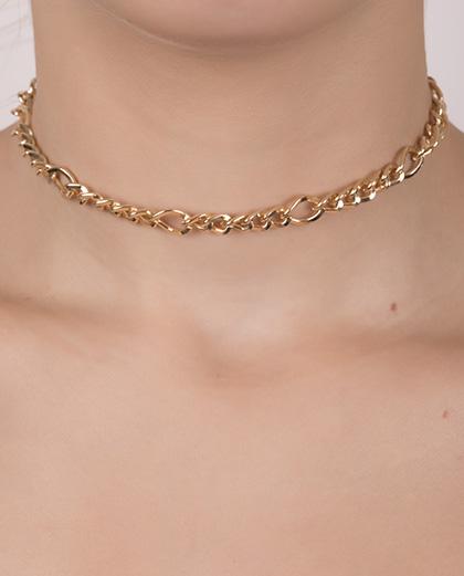 0103a2c67dd52 Gargantilha choker de metal dourado vivian