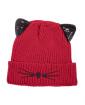Gorro de tricô vermelho Cat