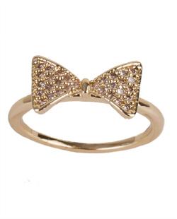 Anel de metal dourado com strass cristal Pamela