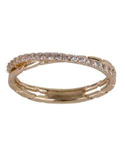 Anel de metal dourado com strass cristal Melinda