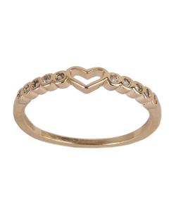 Anel de metal dourado com strass cristal Sasha