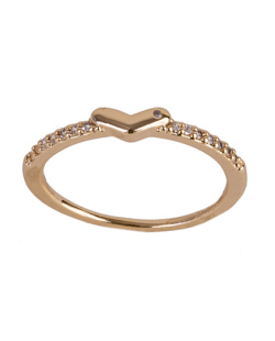 Anel de metal dourado com strass cristal Sandy