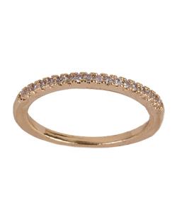 Anel de metal dourado com strass cristal Andresa