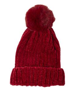 Gorro de tricô vermelho Diana