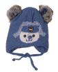 Gorro de tricô infantil azul  Bob