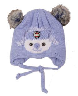 Gorro de tricô infantil azul claro  Bob