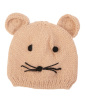 Gorro de tricô infantil rosa kitten