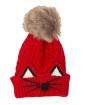 Gorro de tricô infantil vermelho alvin
