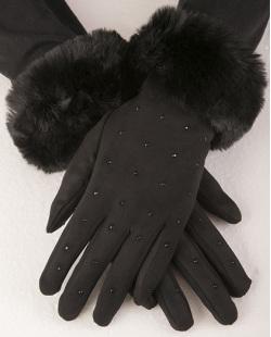 Luva de algodão preto sasha