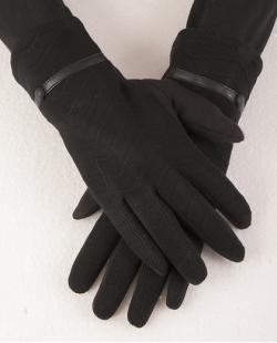 Luva de algodão preta Gabrielly
