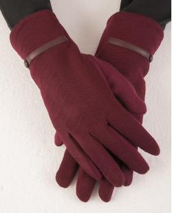 Luva de algodão bordô Gabrielly