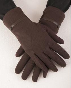 Luva de algodão marrom Gabrielly