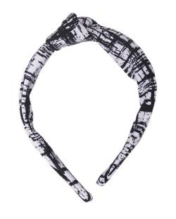 Tiara de tecido branco Dhudy