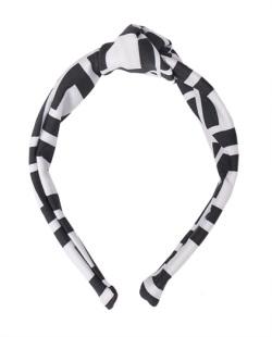 Tiara de tecido branco Yana