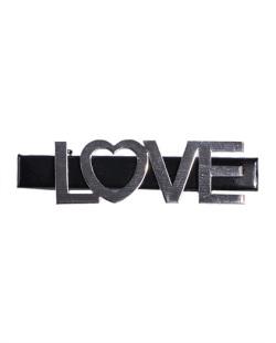 Presilha de metal preto e grafite Love