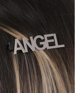 Presilha de metal preto e grafite Angel