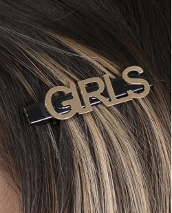Presilha de metal preto e dourado Girls