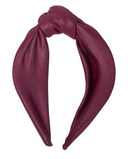 Tiara de tecido bordô Cal