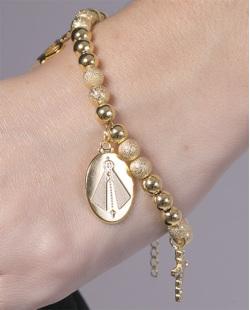 Pulseira de metal dourado com strass cristal Carey