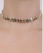 Gargantilha choker de metal dourado Suzy