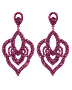 Maxi Brinco de courino pink com strass pink Diana