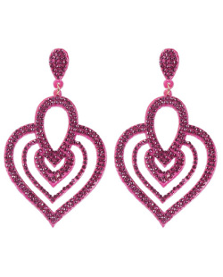 Maxi Brinco de courino pink com strass pink Naira