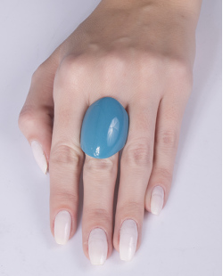 Anel de acrílico azul Guiomar
