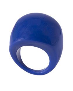 Anel de acrílico azul royal Valéria