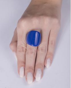Anel de acrílico azul royal Gisela