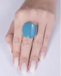 Anel de acrílico azul Gisela