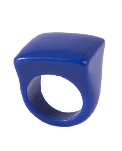 Anel de acrílico azul royal Pâmela