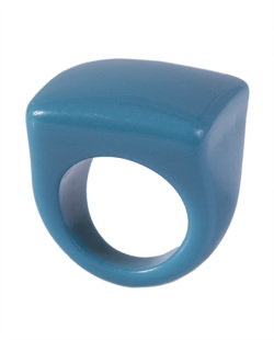 Anel de acrílico azul Pâmela