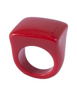 Anel de acrílico vermelho Pâmela