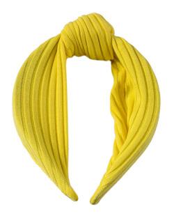 Tiara de tecido amarelo Clara