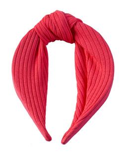 Tiara de tecido rosa neon Clara