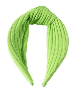 Tiara de tecido verde neon Clara