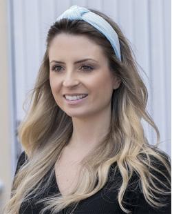 Tiara de tecido azul Paula