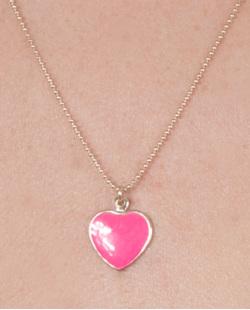 Kit 3 colares de metal dourado com pink Ully