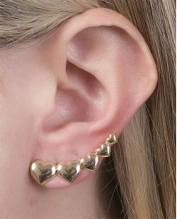 Ear cuff folheado de metal dourado Angela