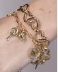 Kit 2 pulseiras de metal dourado Mirela