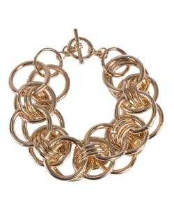 Pulseira de metal dourado Larissa