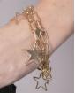 Pulseira de metal dourado Talita
