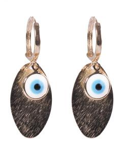 Argola de metal dourado com olho grego Sofie