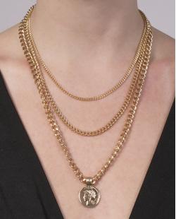 Colar de metal dourado Vania