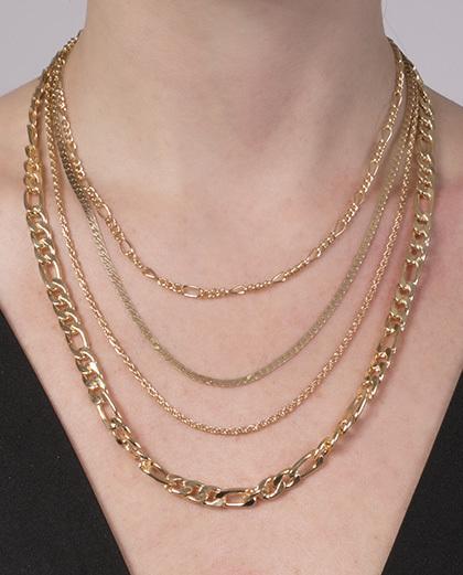 Colar de metal dourado Mathilde