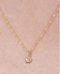 Conjunto folheado de metal dourado com strass cristal Fanny