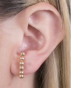 Ear hook folheado de metal dourado Íris