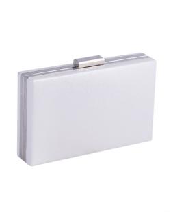 Bolsa de mão clutch de courino white Yandra
