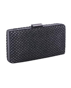 Bolsa de mão clutch de palha black Yone