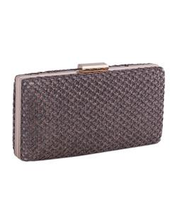 Bolsa de mão clutch de palha brown Yone